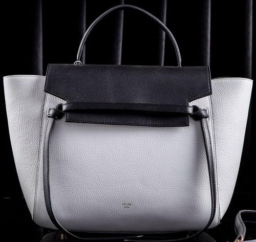 Celine Small Belt Bag Original Leather CLT3346S White&Black