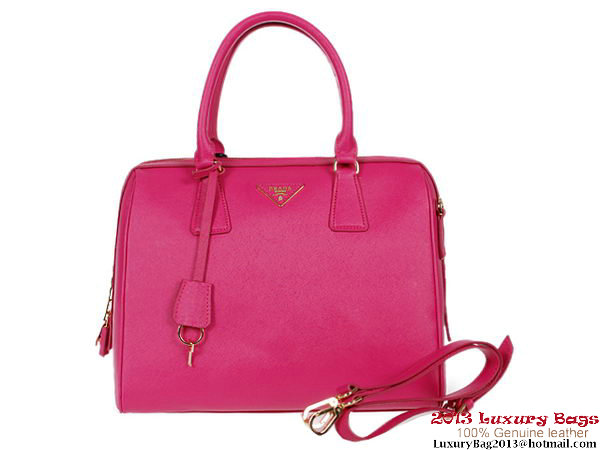 PRADA Saffiano Leather Two Handle Bag BL0812 Rosy