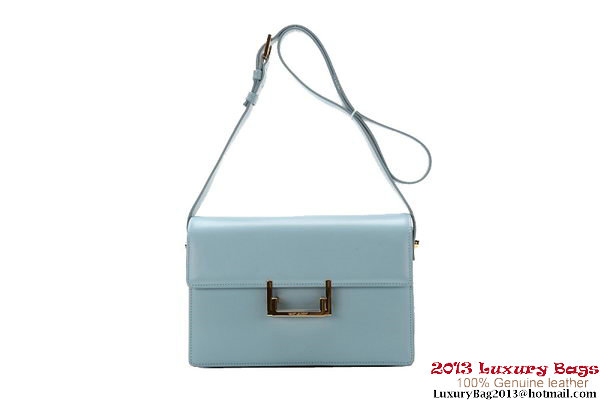 Yves Saint Laurent Classic Medium Lulu Bag Original Leather Y037 Light Blue