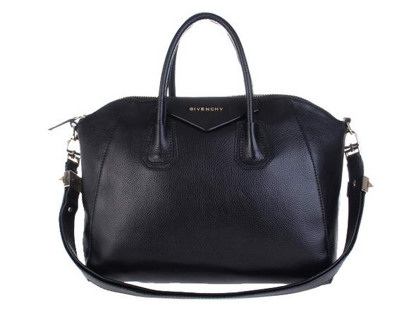 Givenchy Small Antigona Bag Lichee Pattern Leather 9981 Black