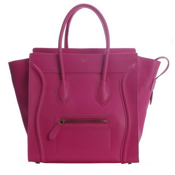New Color Celine Luggage Medium Bag 1163984LBN in Rosy Original Leather