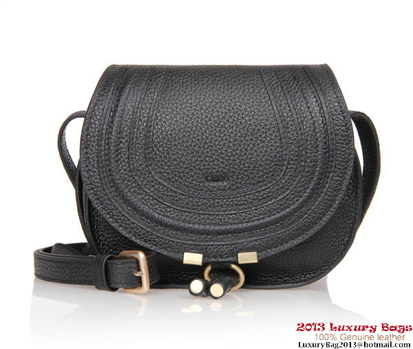 Chloe Marcie mini Shoulder Bag Calfskin 166324 Black