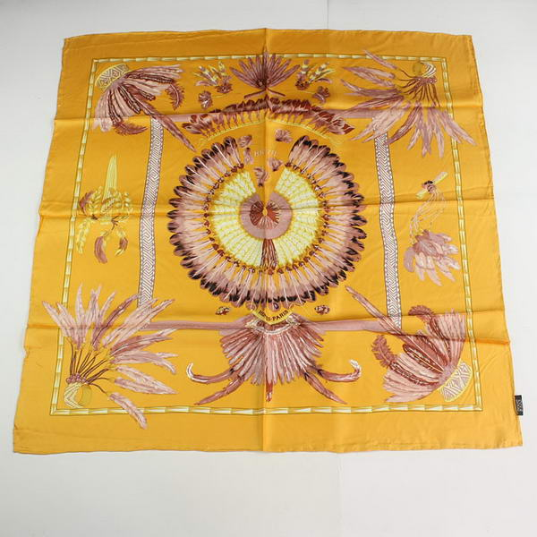 Hermes Scarves Silk Broadcloth WJH063 Yellow