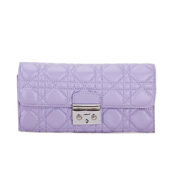 Dior Flap Wallet in Sheepskin Leahter D012 Lavender