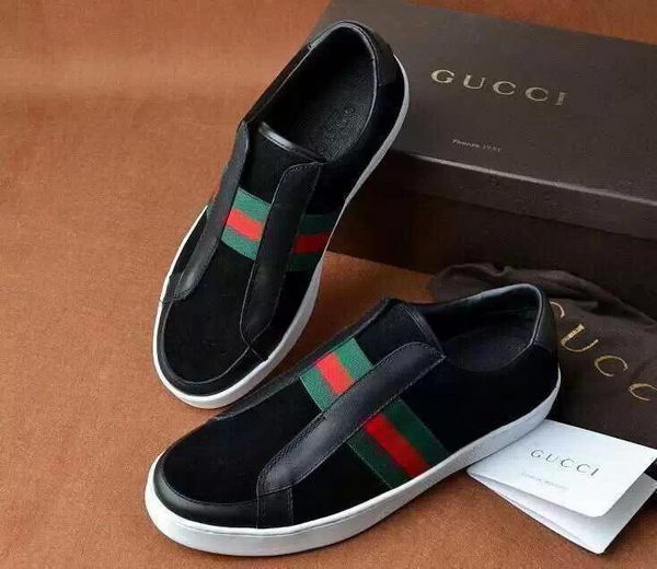 Gucci Casual Shoes Suede Leather GG0524 Black