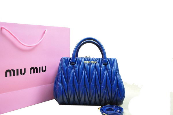 miu miu Matelasse Lambskin Leather Tote Bag M81168 Royal