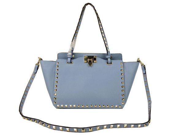 Valentino Garavani Rockstud mini Tote Bag Original Leather VG1916 SkyBlue