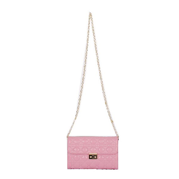 MISS DIOR Shoulder Bag Original Leather D61030 Pink
