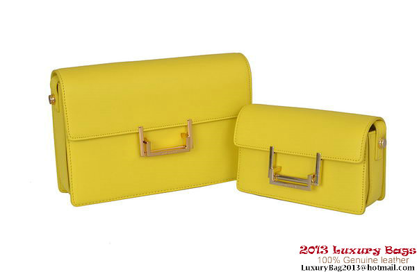 Yves Saint Laurent Classic Small and Medium Lulu Bag in Yellow Leather