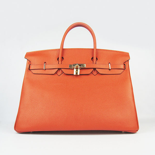 Hermes Birkin 40CM Togo Bag Orange 6099 Gold