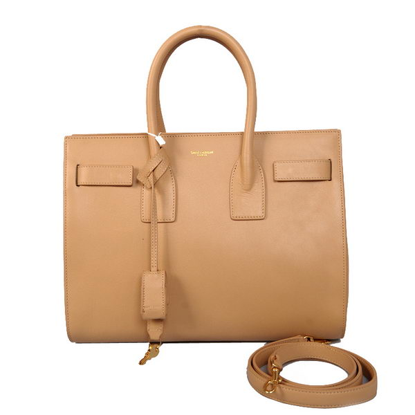 Yves Saint Laurent Classic Small Sac De Jour Bag in FOG Leather 23669 Apricot
