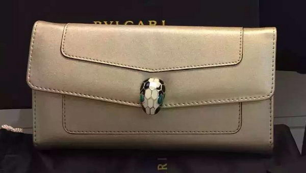 BVLGARI Wallet Pochette in Calf Leather BG0122 Gold