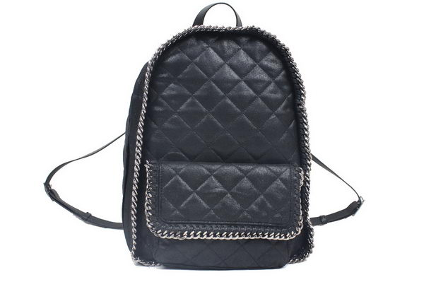 Stella McCartney Falabella PVC Fold Over Backpack 879 Black