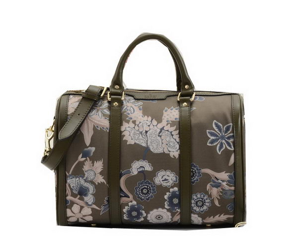 Gucci Vintage Camouflage Leather Boston Bag 247205 Khaki