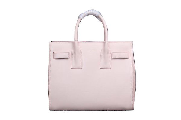 Yves Saint Laurent Classic Small Sac De Jour Bag in FOG Leather Y0118 Light Pink