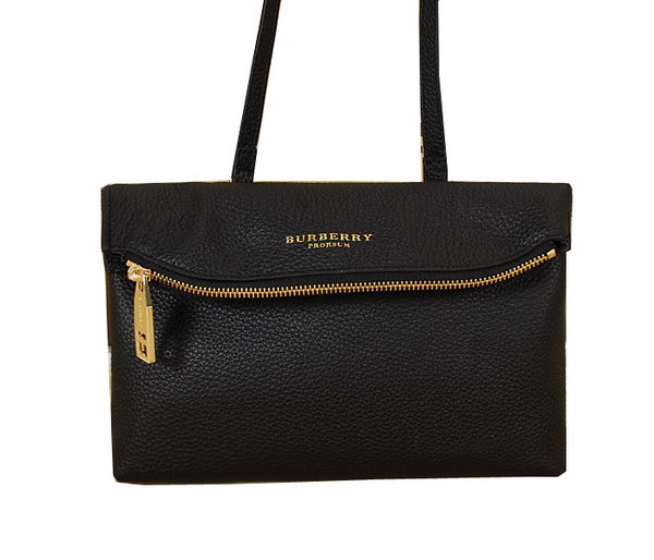 Burberry Original Leather Flap Shoulder Bag BU4221 Black
