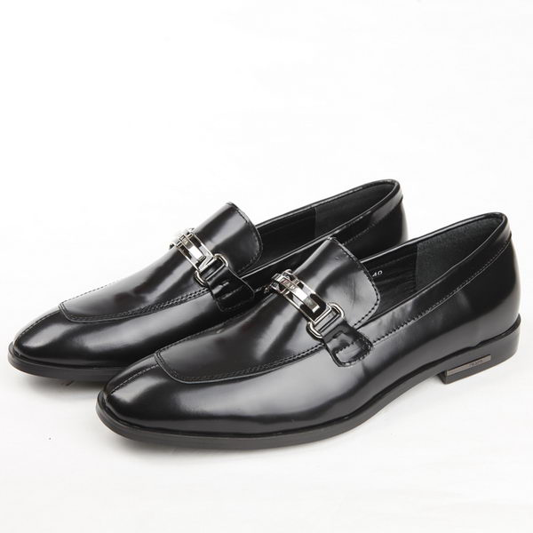 Prada Patent Leather Men Shoes PD333 Black
