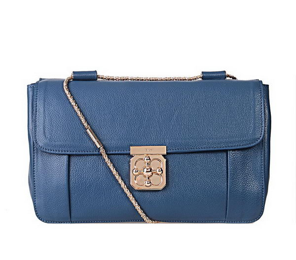 Chloe Large Elsie Shoulder Bag 181626 Blue
