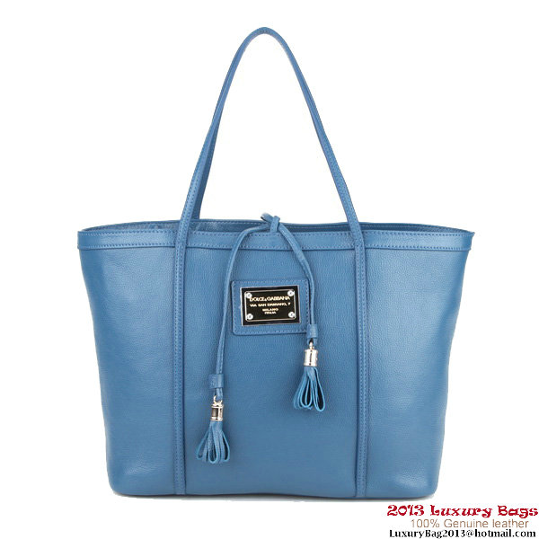 Dolce & Gabbana ESCAPE sHOPPER Bag Calfskin Leather BB4390 Blue