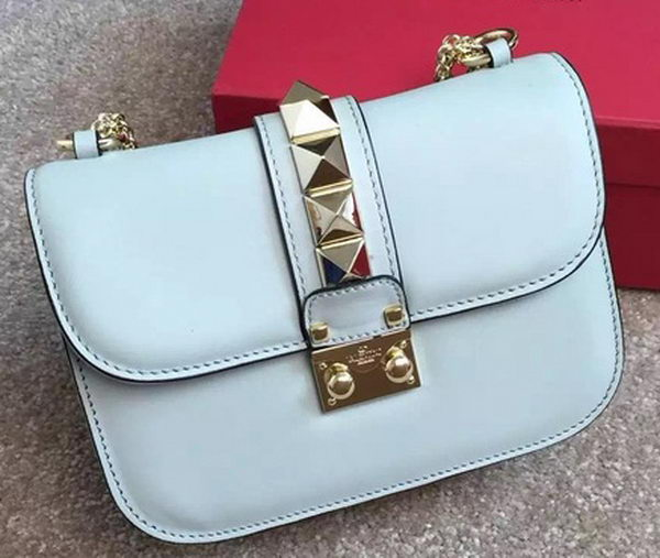 Valentino Garavani Small Chain Shoulder Bag Calfskin JW2B0312VIT Light Blue