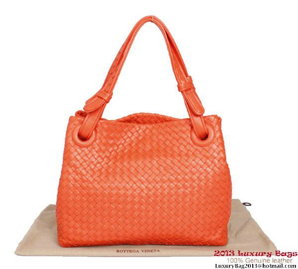 Bottega Veneta Intrecciato Nappa Shoulder Bag BV2731 Orange