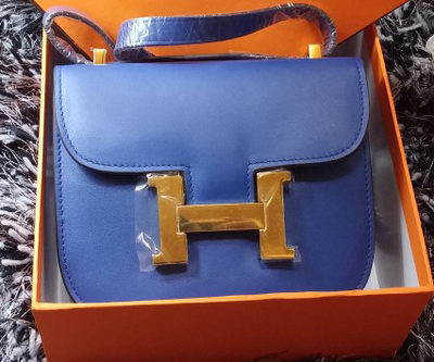 Hermes Constance Bag Smooth Leather H9999S Royal