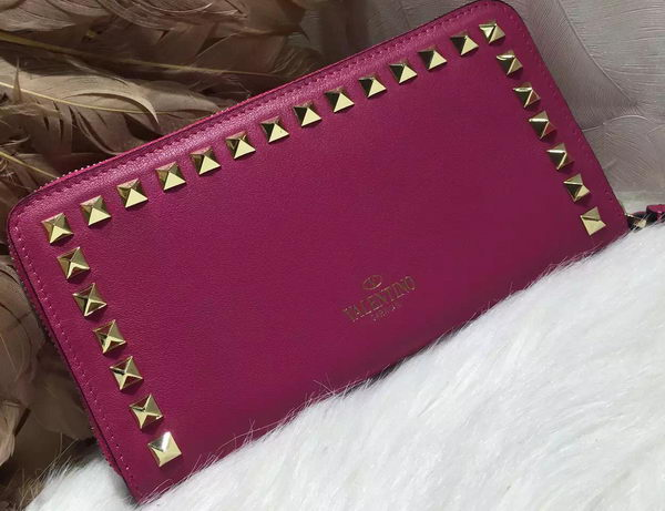 Valentino ROCKSTUD Continental Zipped Wallet VG027 Purple