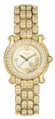 Chopard Happy Sport Series 18kt Yellow Gold Ladies Diamond Watch 276194-20