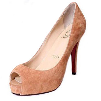 Christian Louboutin Terracotta Suede Very Prive Platforms
