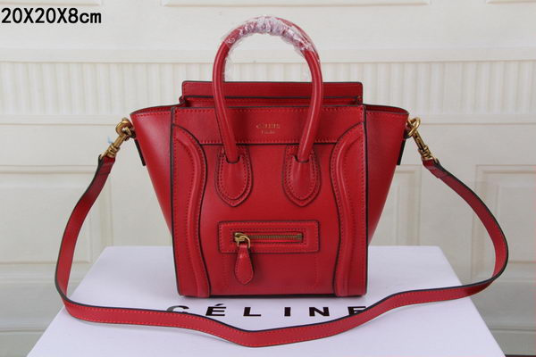 Celine Luggage Nano Bag Original Leather CTS3309 Red