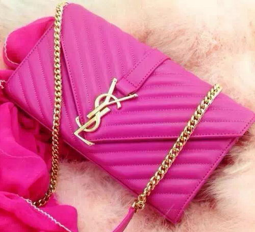 YSL Classic Monogramme Flap Bag Nappa Leather Y33210 Rose