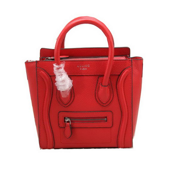 Celine Luggage Nano Bag Grainy Leather CL88029 Red