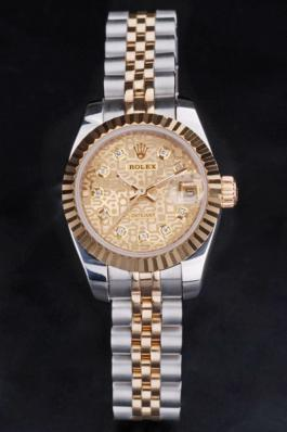 Rolex Datejust Golden 25mm Women Watch-RD3834