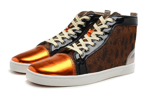 Christian Louboutin Casual Shoes Calfskin Leather CL865 Leopard