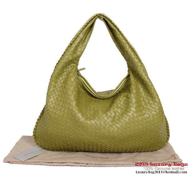 Bottega Veneta Intrecciato Nappa Large Veneta Hobo Bag BV5902 Army Green