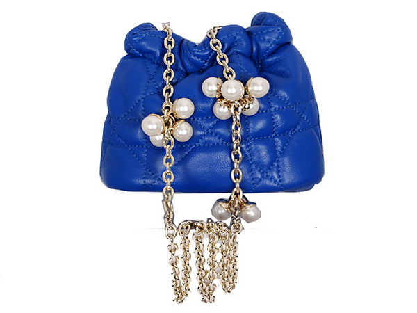 Dior Hobo Bag in Sheepskin Leather 2015 Blue