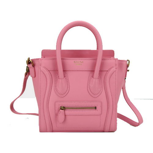 Celine Luggage Nano Bag Original Leather CL88029 Pink