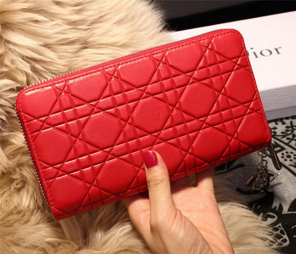Dior Escapade Wallet in Sheepskin Leahter D1873 Red