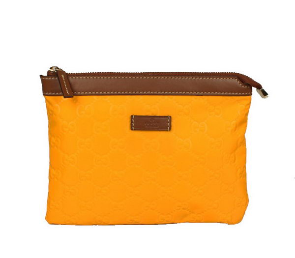 Gucci Cosmetic Bags Zip-Top Pouch 282071 Yellow