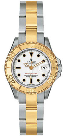 Rolex Yachtmaster Series Elegant Ladies Automatic 18kt Yellow Gold Unidirectional Rotating Wristwatch 169623-BLSO