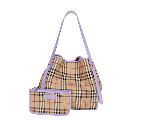 BurBerry Original Haymarket Check Tote Bag B8882 Lavender