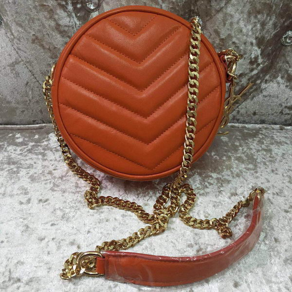 Yves Saint Laurent Monogramme Leather Shoulder Bag Y30260 Orange