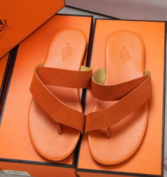 Hermes Slipper Suede Leather HO0378 Orange