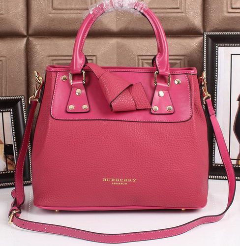 BurBerry Grainy Leather Tote Bag 8815 Rose