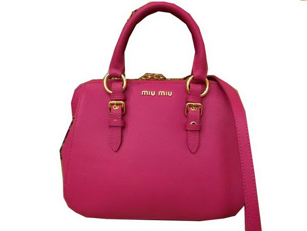 miu miu Madras Goat Leather Top-handle Bag RL0063 Rose