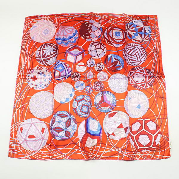 Hermes Scarves Silk Broadcloth WJH036-2 Orange