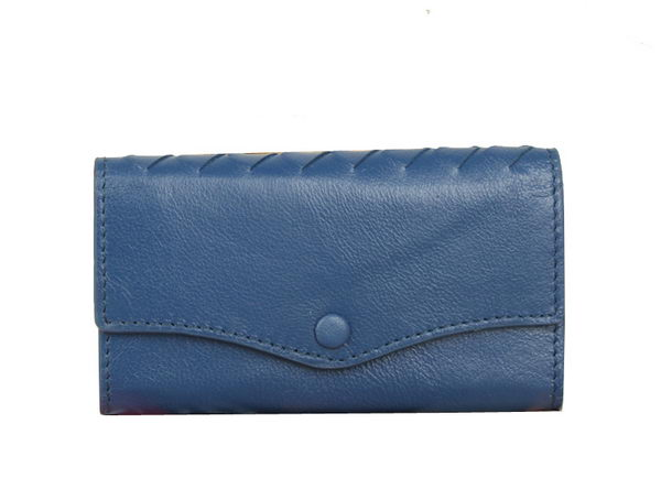 Bottega Veneta Intrecciato Nappa Key Case 5802 RoyalBlue