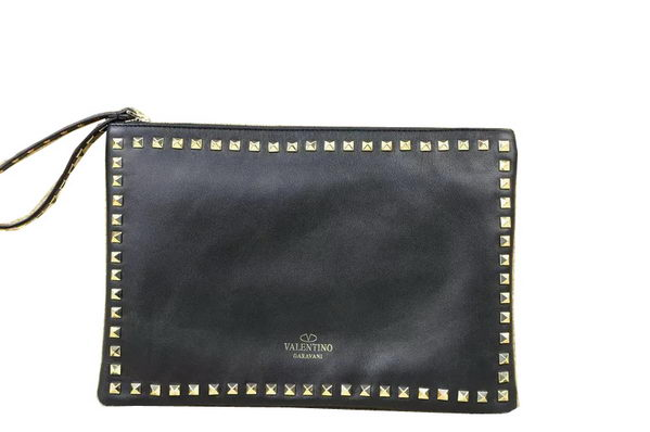 Valentino Garavani Rockstud Clutches Original Leather VO606 Black