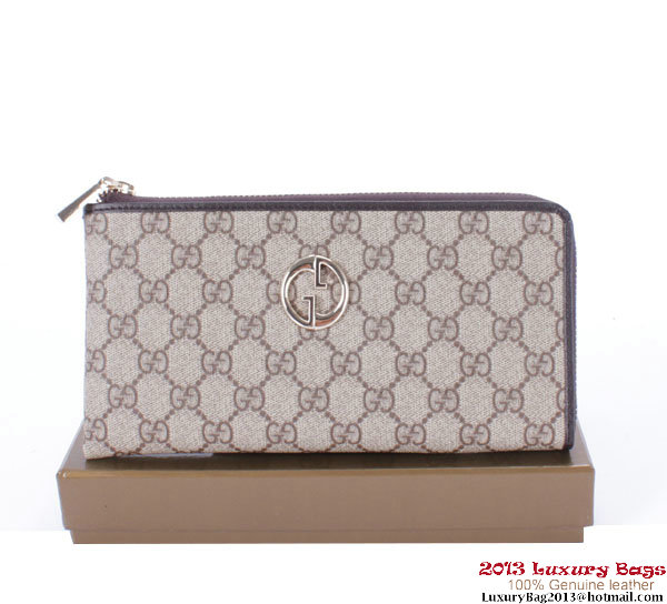Gucci Continental Zippy Wallet 222736 Brown