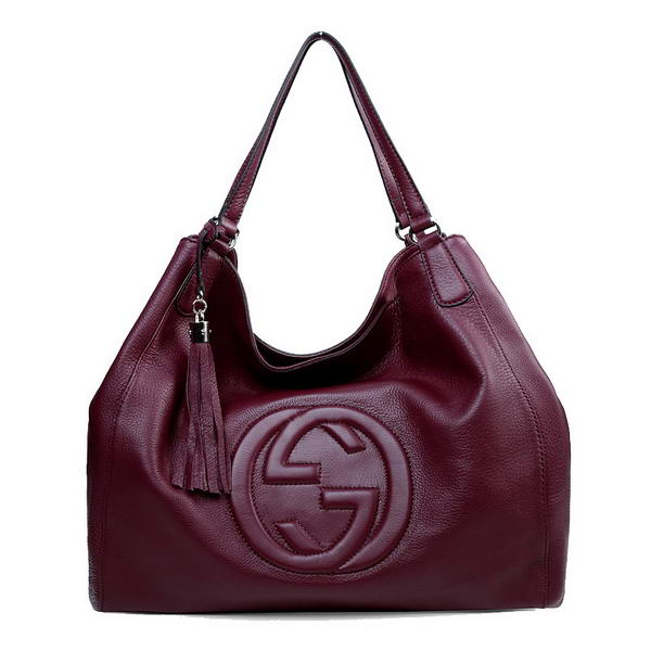 Gucci Soho Large Leather Shoulder Bag 282308 Bordeaux